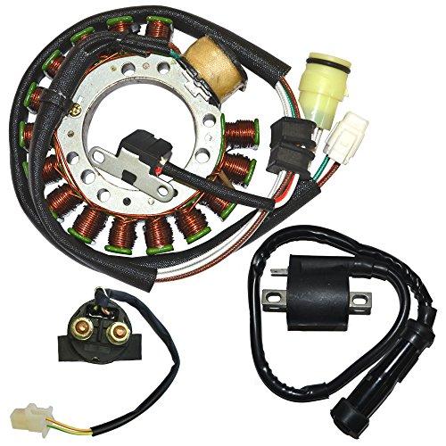 Magneto Ignition Starter (Magneto Stator Coil Starter Relay Ignition Coil for 1999-2001 Yamaha Grizzly 600 ATV)