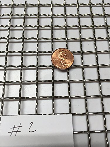 ASC Stainless Steel Mesh 304,#2 .063 Wire,Cloth,Screen,Woven wire 12