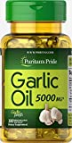 Puritan's Pride Garlic Oil 5000 mg-100 Rapid Release Softgels For Sale