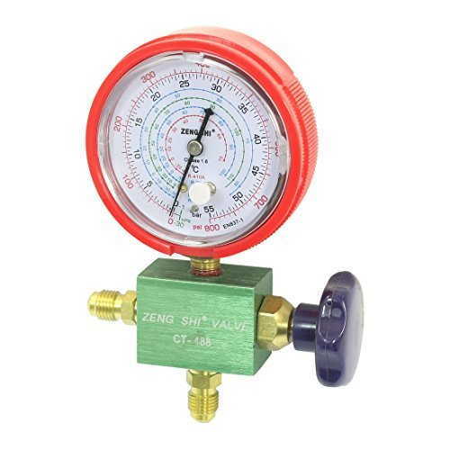 Water & Wood Refrigeration Part 1/4 NPT Threaded Single Manifold Gauge Valve 55Bar by Waterwood