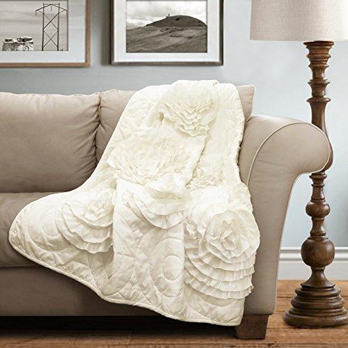 Lush Decor 40T40 Serena Throw 40 X 40 Ivory40 X 40 40%OFF Interesting Lush Decor Throw Pillows