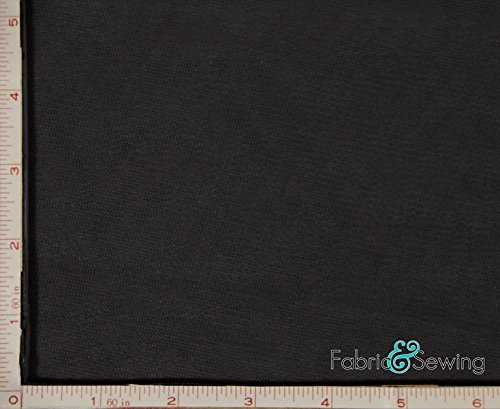 Black Small Hole Net Netting Fabric 2 Way Stretch Polyester 58-60 Fabric and Sewing
