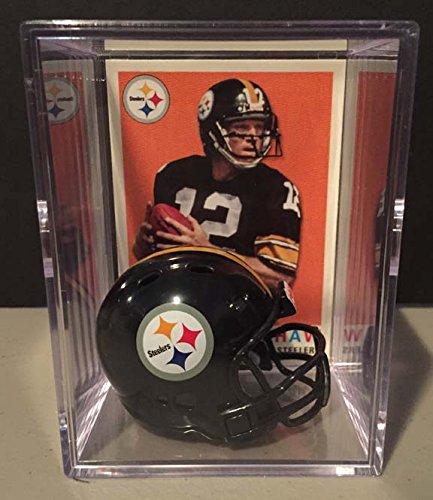 Pittsburgh Steelers NFL Helmet Shadowbox w/ Terry Bradshaw card