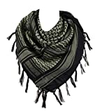 100% Cotton Military Shemagh Arab Tactical Desert Keffiyeh Scarf Wrap for Women Men 43''x43''