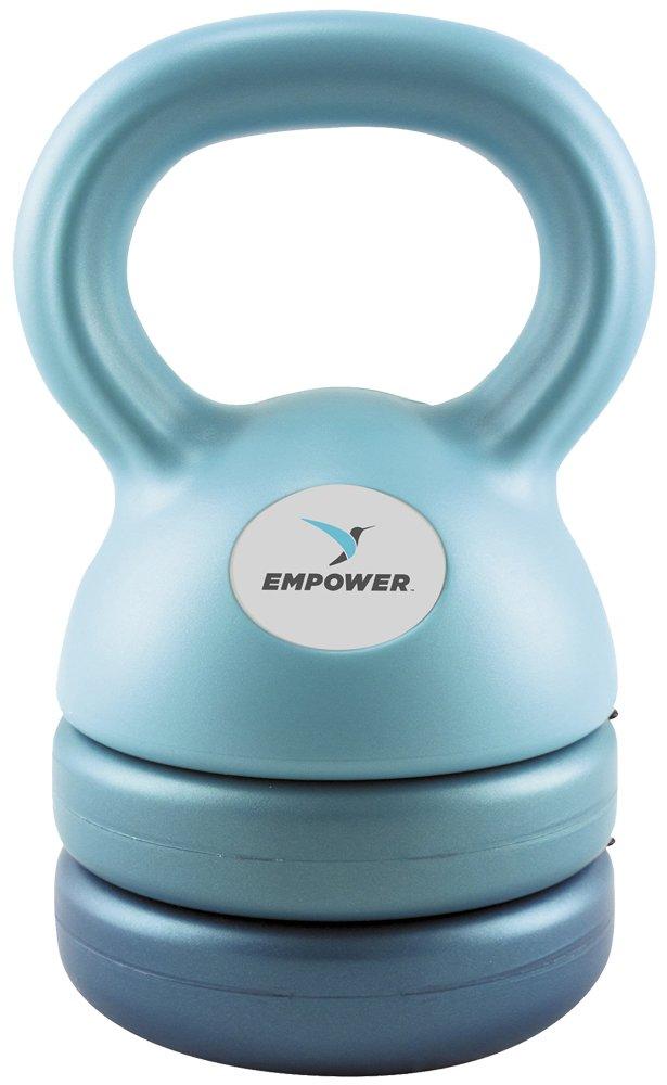 Empower Kettlebell Weight Set for Women, Adjustable Kettlebells 5 lbs, 8 lbs, 12 lbs, 3-In-1 Kettlebell Set