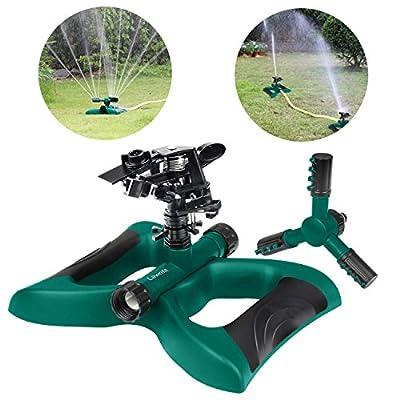 Lawn Sprinkler?Impact Sprinker, 360 Degree Rotating Sprinkler Irrigation System, Sprinkler is perfectly for Garden & Lawn Outdoor …
