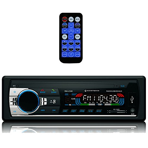 Ezonetronics Single Din Car FM Stereo Radio With MP3/WMA Playback Support SD/USB/AUX IN/Remote Control ()