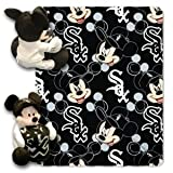 The Northwest Company MLB Chicago White Sox Pitch Crazy Co-Branded Disney's Mickey Hugger and Fleece Throw Set