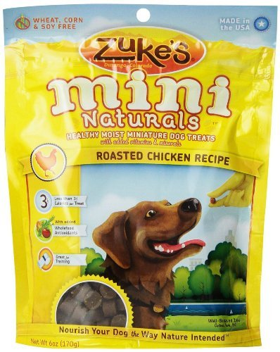 Zuke's Mini Naturals Dog Treats Roasted Chicken Recipe, 6-Ounce