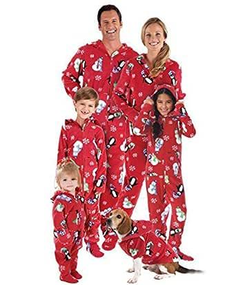 Pijamas Familiares Navideñas Pijama Navidad Familia Mono