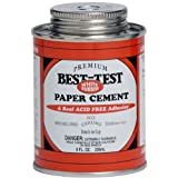 Best-Test White Rubber Paper Cement, 8-Ounce, Office Central