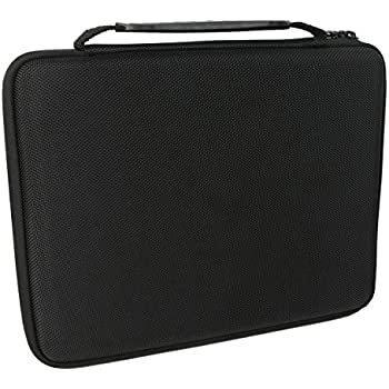 Khanka Double Rows EVA Hard Case Travel Bag for C. A. H. Card Game with 5 Moveable Dividers, Black