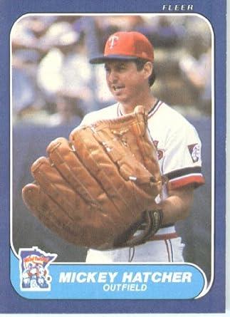 Amazoncom 1986 Fleer Baseball Card 396 Mickey Hatcher Mint