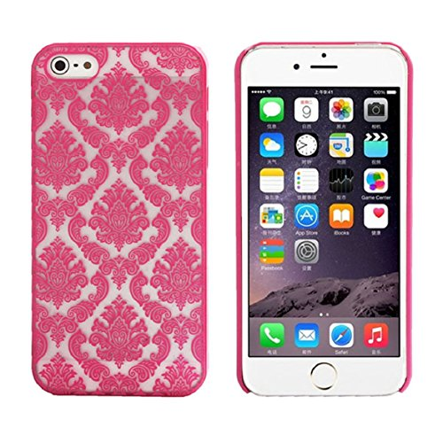 Iphone 5s Case, Shensee Vintage Carved Damask Pattern Matte Hard Plastic Clear Case Silicone Skin Cover for Iphone 5 5s - 635 Shipping Case Nokia Free