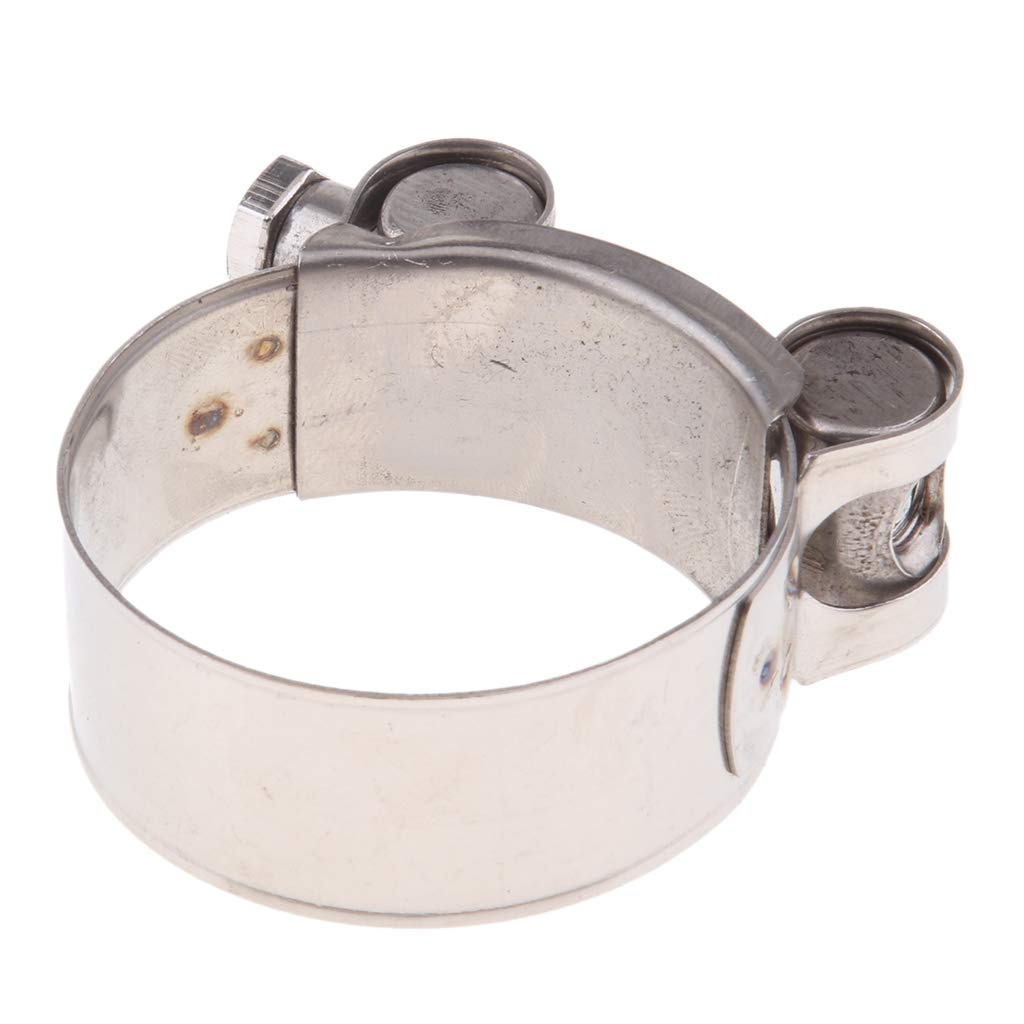 B Blesiya Motorcycle Stainless Steel Exhaust Clamp//Clip 32-35//36-39//40-43//44-47//48-51//52-55mm 32-35mm