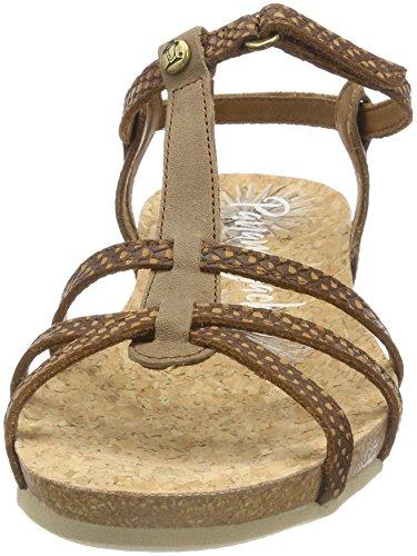 Panama Jack Damen Dori Snake Peeptoe Sandalen Braun (cuero)