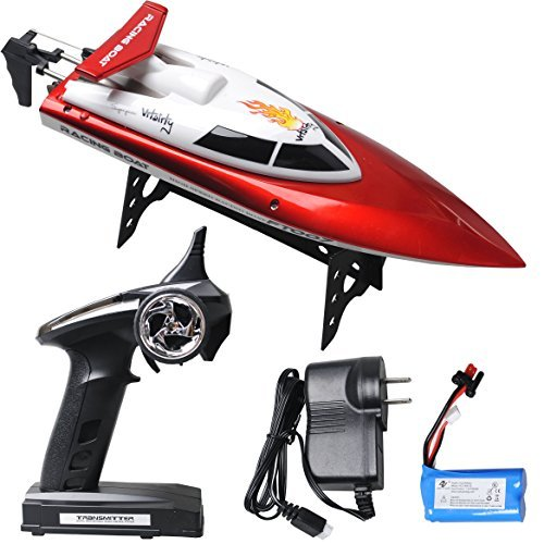 ToyJoy FT007 2.4G 4-Channel RTR Wireless Power High Speed Remote Control Electric/Motor/radio Racing Boat/ship/vessel with battery/charger/LED lamp Red