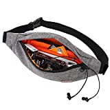 TINYAT Fanny Pack with 4-Zipper Pockets Water