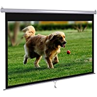 Dansung Manual Pull Down Projector Screen 72 4:3 HD Projection Screen for Indoor Home Theater Business Office TV Presentation Movie Screen with Durable Wrinkle-Free retrack and stop feature
