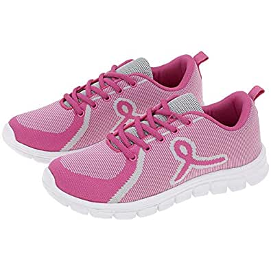 GreaterGood Pink Ribbon Training Shoes Gray Size: 6