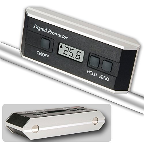 Electronic Measuring Devices Measure : Rise digital protractor inclinometer angle slope measuring