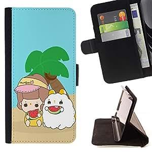 Momo Phone Case / Flip Funda de Cuero Case Cover - Buddies lindas Island - LG Nexus 5 D820 D821