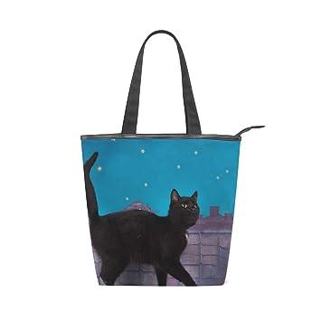 COOSUN - Bolso de lona con cremallera para gatos, color negro: Amazon.es: Hogar