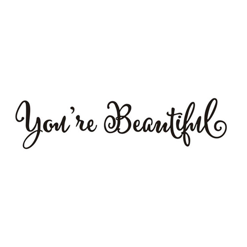 'fablcrew Adesivi da finestra con lettera inglese You' re Beautiful '