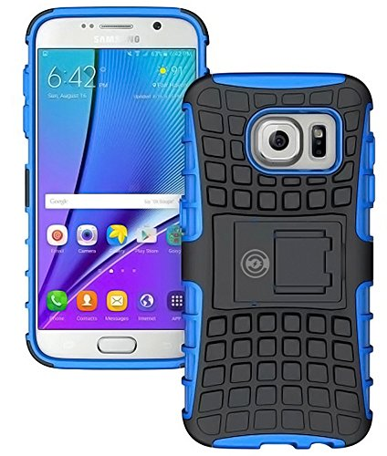 Galaxy s7 Case, By Cable And Case | Galaxy s7 Armor Cases- Compatible With Samsung Galaxy s7 SIV S IV | Soft/Hard Shell 2 in 1 Tough Protective Cover Skin - Blue s7 Case