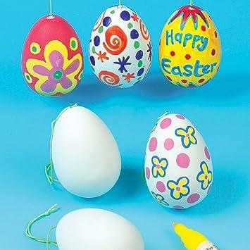 Baker Ross Huevos de Cerámica para Colgar que Podrás Decorar y Personalizar. Manualidades Creativas para Niños Decoraciones de Primavera y Pascua (Pack de ...