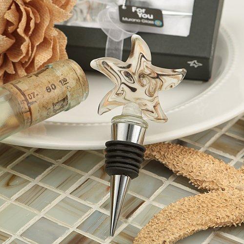 Stunning Starfish Murano Glass Bottle Stopper