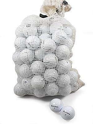Nitro Taylormade 72 Recycled C Grade Golf Balls in Onion Mesh Bag