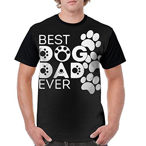 Best Dog Dad Ever Black Novelty T Shirt Top for Boys L Short Sleeve - Barcelona Shirt Fc Original