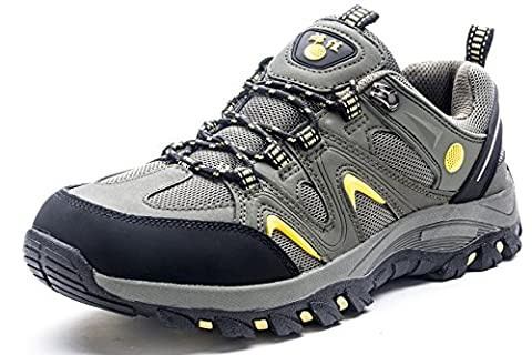 QOMOLANGMA Men's Hiking Shoes Skidproof Walking Sneaker with Insoles for Running Trekking Training