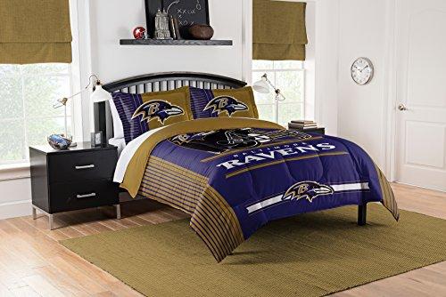 Nfl Full Comforter Bedding - Officially Licensed NFL Baltimore Ravens Safety Full/Queen Comforter and 2 Sham Set
