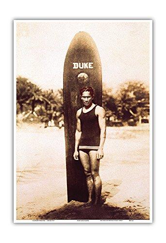 Duke Kahanamoku - Portrait of the Famous Hawaiian Surfer and Olympic Gold Medalist -