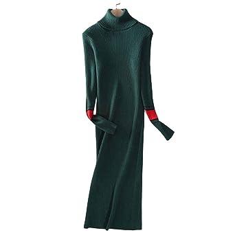 e5bbb493570db Amazon.com  Womens maxi knit Dress for winter cashmere Slim Fit Pencil Midi  Dress(Green)  Home   Kitchen