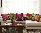 SEJ Cotton (Set of 10) HD Digital Premium Cushion Cover 16 by 16 INCH Multicolor