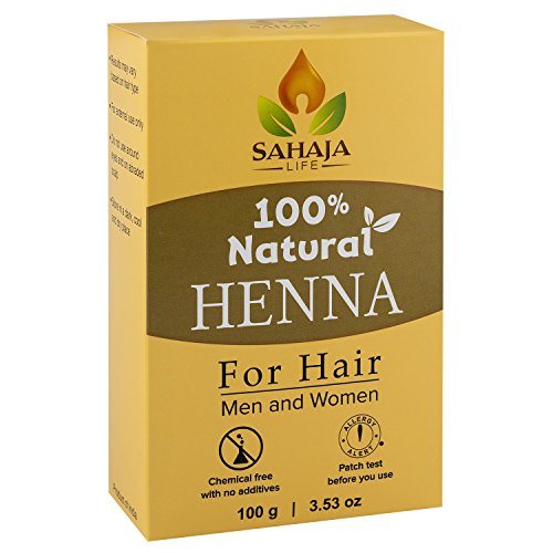 Pure Henna Hair Dye Powder (3.5 Oz) | All Natural, High Pigment Color for Hair, Root Touch Up, Beard & Eyebrows on Men & Women | Includes Bonus Prep Methods Guide (Henna Dye)