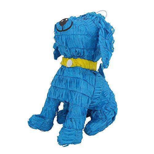 Blue Puppy Dog with Gold Collar Pinata - Mexican Piñata - Handmade in Mexico