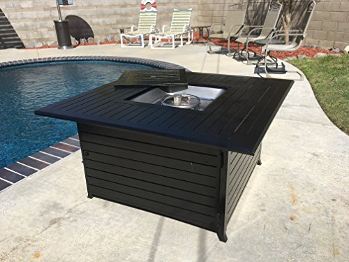 Legacy Heating Squre Fire Pit Table, all Aluminium Constucture with Stainless Steel Burner and Table lid CDFP-S-CA
