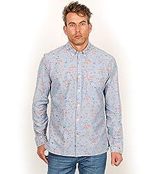 Scotch & Soda Men's Allover Printed 1 Pocket Shirt, Dessin B, X-Large