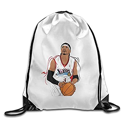 Bekey Allen Ezail Iverson Gym Drawstring Backpack Bags For Men & Women For Home Travel Storage Use Gym Traveling Shopping Sport Yoga Running