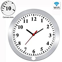 WiFi Wall Clock Camera,Vital 1080P Hidden Pinhole Camera Wireless Spy Camera Security & Surveillance Cameras Video Recorder Can See Real-time Video by Mobilephone Nanny Camera With Motion Detection