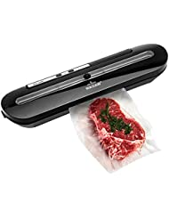 WAOAW Vacuum Sealer Automatic Food Sealers with Starter Kits of Saver Bags and Hose for Food Preservation