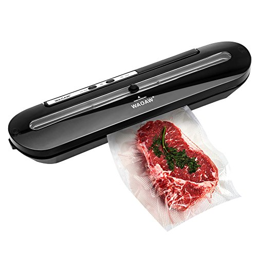 WAOAW Vacuum Sealer Automatic Food Sealers with Starter Kits of Saver Bags and Hose for Food Preservation by WAOAW