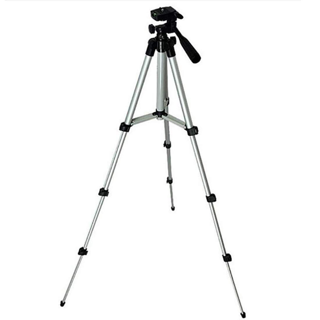 4セクションアルミ三脚 調節可能なスタンド 単眼鏡 双眼鏡 携帯スタンド モバイル望遠鏡 マイクロシングル三脚用   B07MW1TZZP