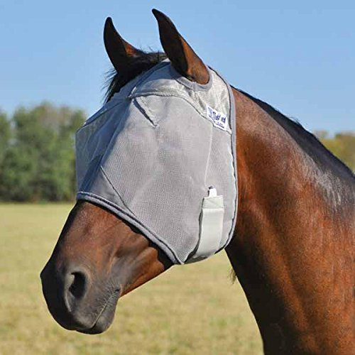 Cashel Crusader Standard Fly Mask No Ears or Nose Gray - Size: (Draft Horse Riding)