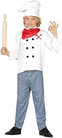 Hat Children Chef Fancy Dress Uniform Job Outfit Girls White Cook Costume