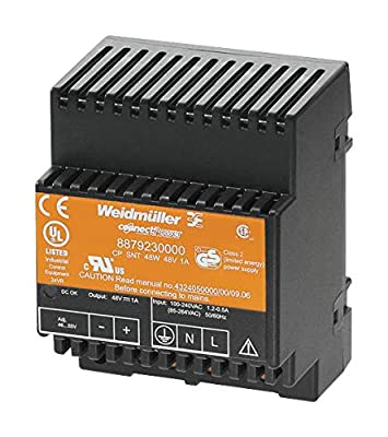 WEIDMULLER 8879230000 AC/DC DIN Rail Power Supply (PSU), 1 Output, 48 W, 48 V, 1 A
